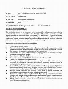 Administrative Clerk Duties Admin Assistant Job Description Resume Unique