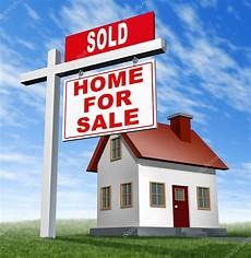 Listing A Home For Sale Sold Home For Sale Sign And House Stock Photo