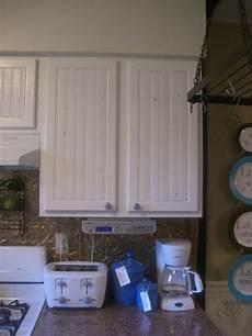 dollar store d ecor beadboard cabinet doors