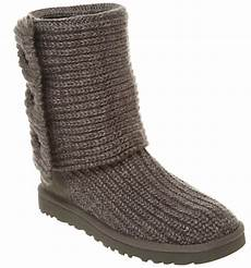 womens ugg uggs cardy knitted boot grey marl boots ebay