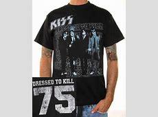 KISS T Shirt   Dressed To Kill 75