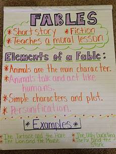 Fable Anchor Chart 2nd Grade Fables Anchor Chart Classroom Anchor Charts Writing