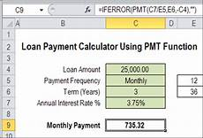 Calculate Loan Payments Excel Excel Loan Payment Calculator Contextures Blog