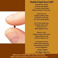 Mustard Seed Size Chart Mustard Seed Size Faith Encouragement Pinterest