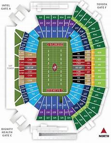 49ers Seating Chart Tickets Amp Suites Levi S 174 Stadium