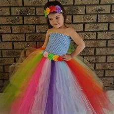 childrens clothes theme rainbow theme baby tutu dress for birthday