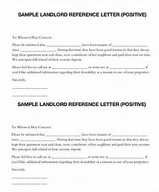 Letter Of Recommendation Landlord Landlord Reference Letter 5 Free Sample Example