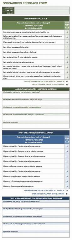 New Hire Orientation Surveys Free Onboarding Checklists And Templates Smartsheet