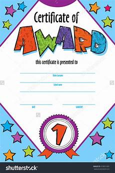 Child Award Certificate Template Child Certificate To Be Awarded Kindergarten