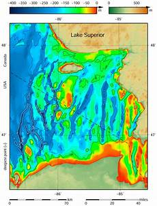 Lesser Lake Depth Chart File Lake Superior Bathymetry Map Deepest Point Trenches