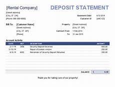 Rental Statement Form Rental Billing Statement Template