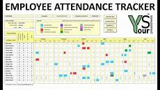 Vacation Tracking Spreadsheet Employee Attendance Tracker Spreadsheet Youtube