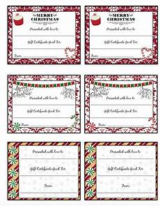 Gift Certificate Prints Free Printable Christmas Gift Certificates 7 Designs