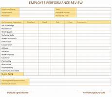 Staff Review Template Employee Performance Review Template For Word Dotxes