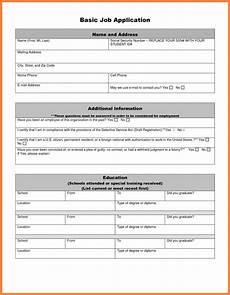 Basic Application Forms 8 Basic Job Application Marital Settlements Information