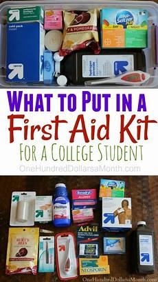 diy aid kit for college students one hundred