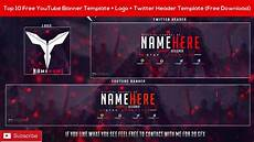 Youtube Banners Free Top 10 Free Youtube Banner Template Logo Twitter