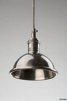 Pewter Pendant Light Fitting Small Pewter Dome Industrial Pewter Pendants Holloways