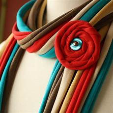 fabric scarves and necklaces by pronta handmade jewlery