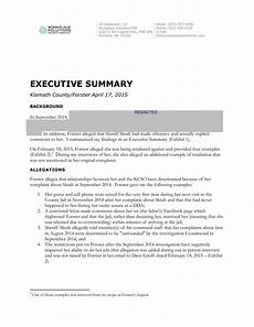 Executive Summary Report Second Executive Summary Report Heraldandnews Com