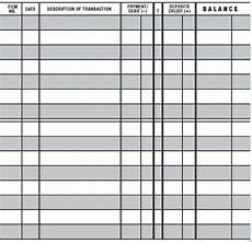 Paper Checkbook Register 5 Easy To Read Checkbook Transaction Register Large Print