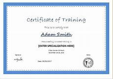 Certificate Of Training Template Free Certificate Templates Certificate Of Training Template