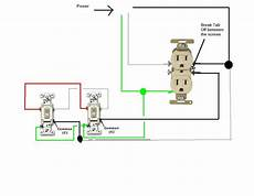 3 Way Switch Light And Outlet How Do I Go About Wiring Two Split Circuit Outlets