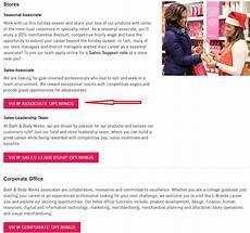 Bath And Body Works Sales Lead Job Description How To Apply For Bath And Body Works Jobs Online At