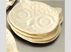 White Owl Plate   Eclectic   Dinner Plates   by Pottery Barn