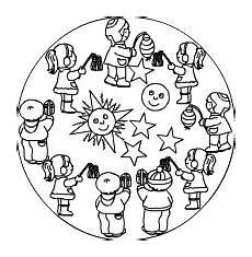Ausmalbilder Herbst Laterne Laternen Mandala Basteln Mit Und F 252 R Kinder