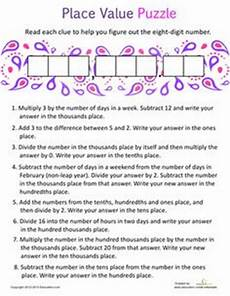 Expanded Notation Using Decimals Place Value Worksheets