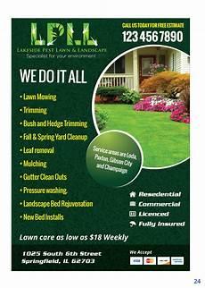 Landscaping Flyer Design Colorful Professional Lawn Care Flyer Design For