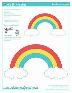 Rainbow Printable Template Rainbow Templates