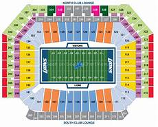 Ford Stadium Seating Chart Ford Field Detroit Mi Seating Chart View