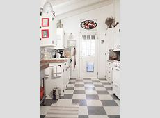 Chef Brandon Boudet's Charming Cottage Kitchen ? Kitchen Tour   The floor, Grey and Tile back