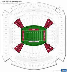 Bryant Denny Stadium Seating Chart With Seat Numbers Lower Level Corner Bryant Denny Stadium Football Seating
