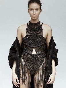 blaaack macrame dress knitwear fashion fashion design