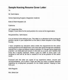 Nursing Resume Cover Letter Example 8 Nursing Cover Letter Templates To Download Sample