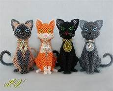 cats made 12 cats beaded
