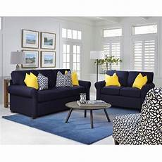 sunbrella navy sofa bernie phyl s furniture by