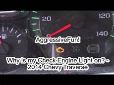 Why Does My Check Engine Light Turn On And Off Why Is My Check Engine Light On 2014 Chevy Traverse Youtube