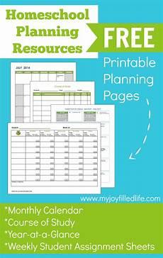 Free Printable School Planner Free Printable Homeschool Planning Pages