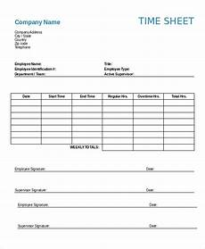 Employee Time Sheets Template 12 Printable Timesheet Templates Pages Word Docs