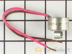 Whirlpool Wp4387503 Bimetal Defrost Thermostat