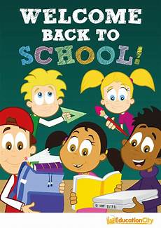 Welcome Back Poster Educationcity Welcome Back To School Poster On Pantone