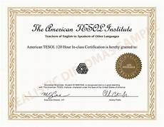 Fake Course Certificate Fake Certificate Tesol Any School Realistic Diplomas