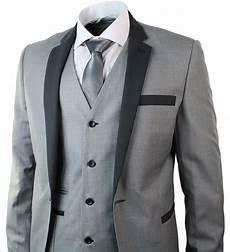 Light Grey 3 Piece Suit Mens 3 Piece Light Grey Suit Charcoal Trim Slim Fit