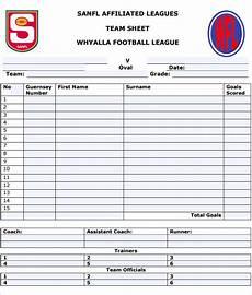 Team Templates Football Team Sheet Template 6 Pdf Free Amp Premium
