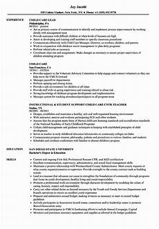 Resume For Child Care Director Child Care Resume Examples Lovely Child Care Resume