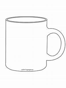 Coffee Mug Template Templates Clipart Mug Pencil And In Color Templates